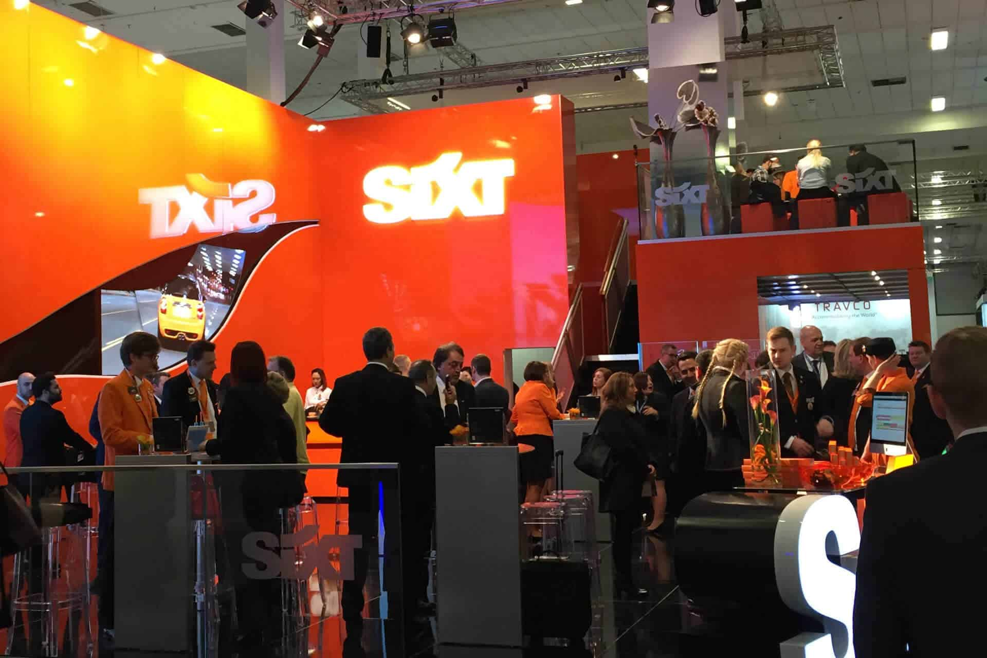 Sixt Messestand ITB