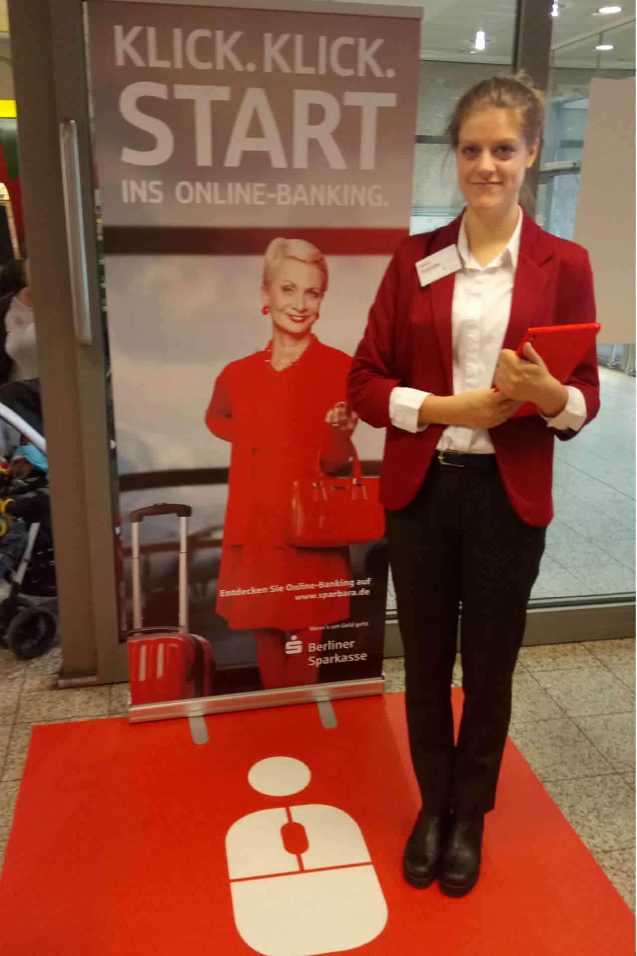 Promoterin Berliner Sparkasse