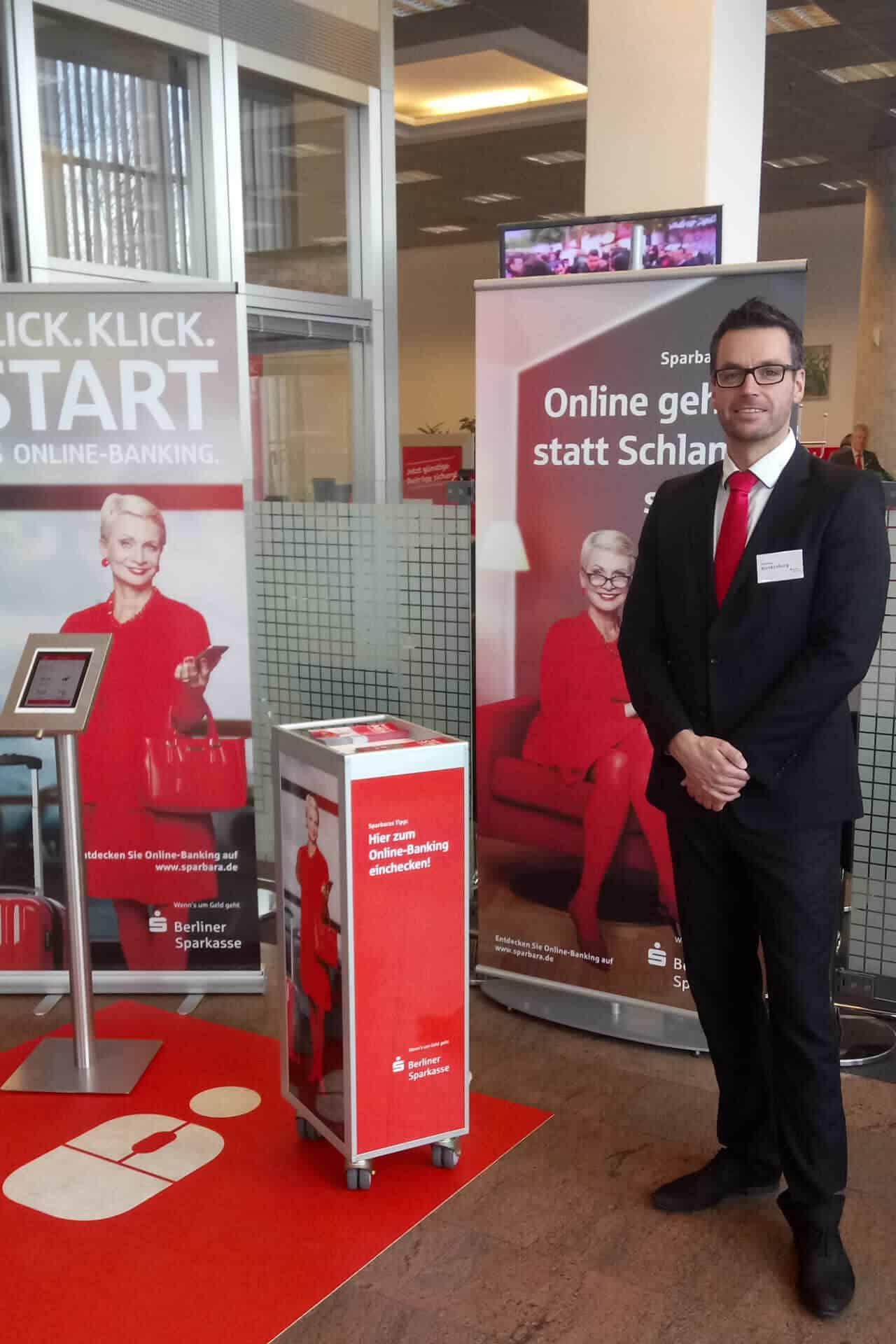 Promotion Stand Berliner Stadtsparkasse