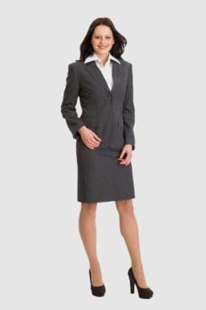 Betty Barclay graues Kostüm mit Nadelstreifen