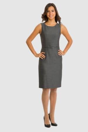 Betty Barclay graues Kleid mit Fischgräten