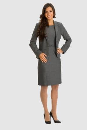 Betty Barclay graues Kleid mit Blazer - Fischgräten