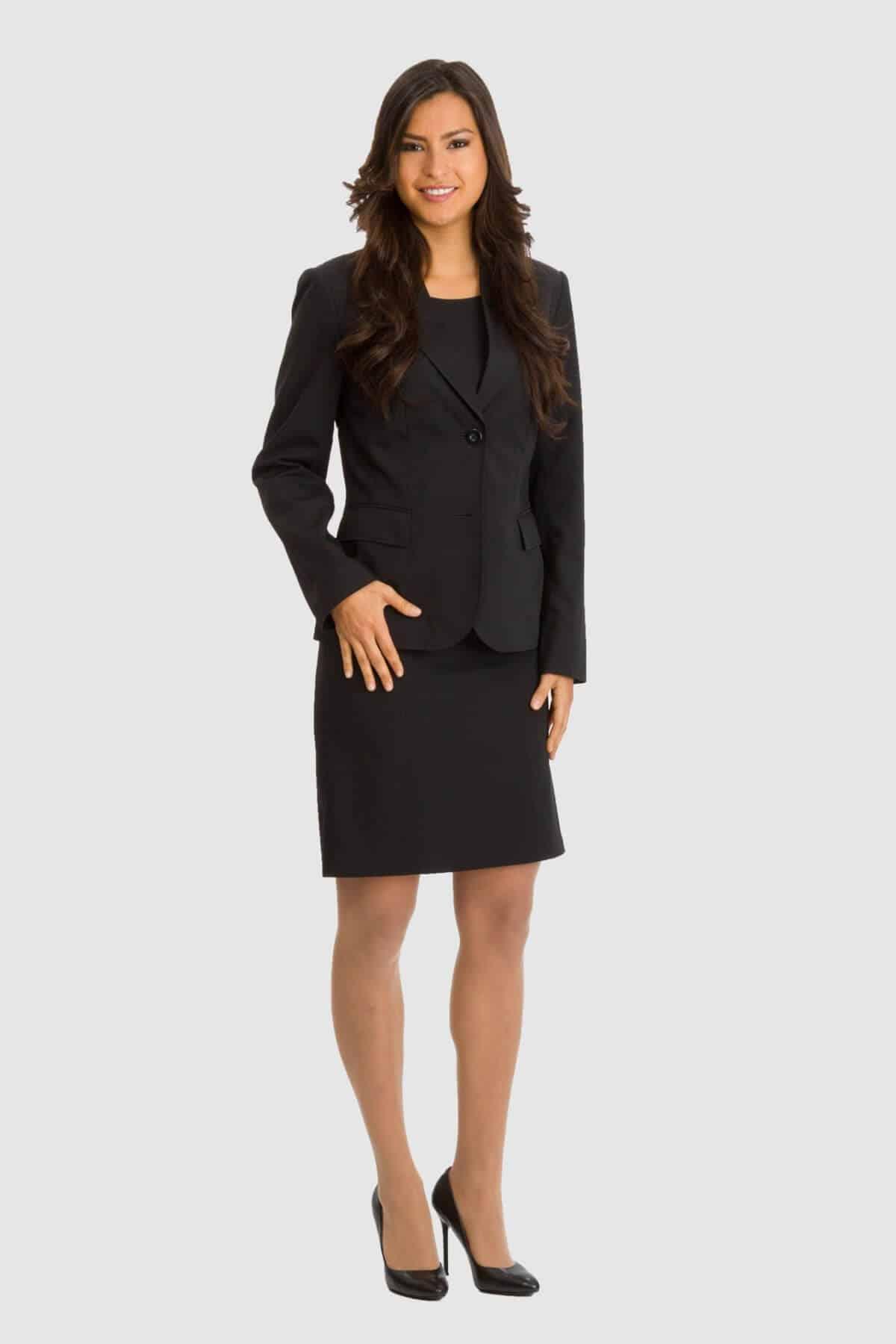 Betty Barclay schwarzes Etuikleid mit schwarzem Blazer
