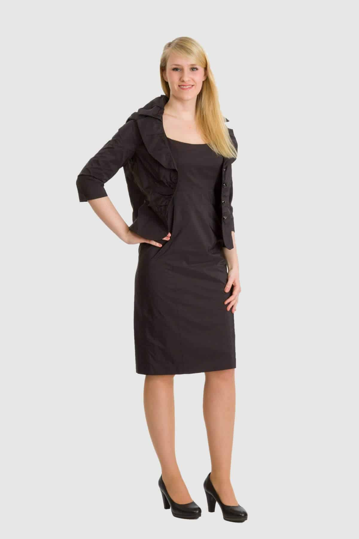 Vera Mont schwarzes Kleid mit Bolero