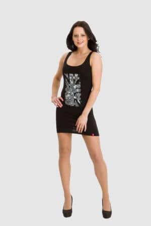 Esprit schwarzes Kleid Longtop used Look
