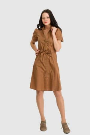 H&M camelfarbenes Kleid