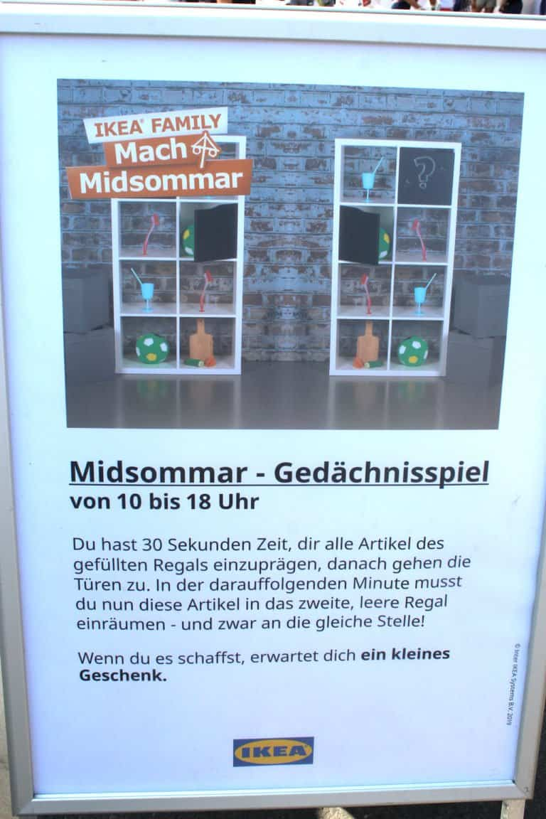 Gedächnisspiel IKEA Midosmmar 2019